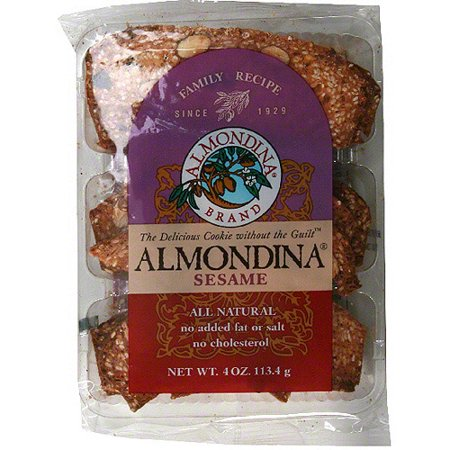Image of Almondina Sesame & Almond Biscuits, 4 oz (Pack of 12)
