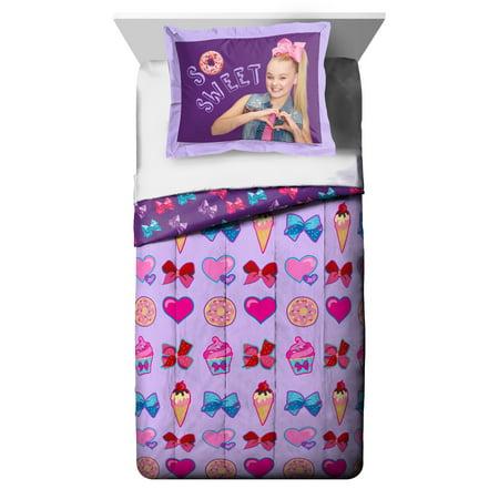 - Nickelodeon JoJo Siwa Sweet Life Twin/Full Comforter and Sham Set