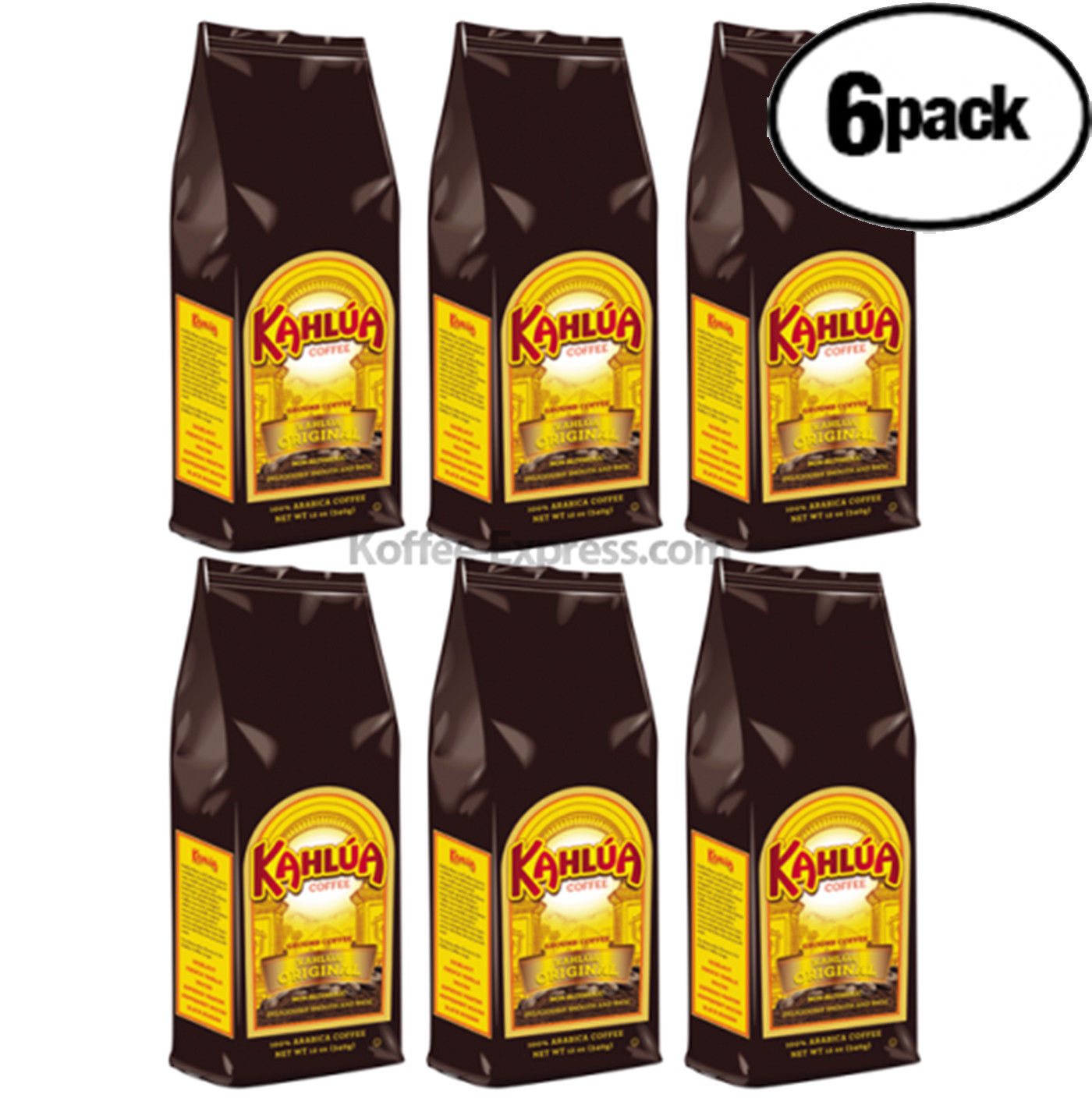 Kahlua Original Ground Coffee (6 bags/12 oz)