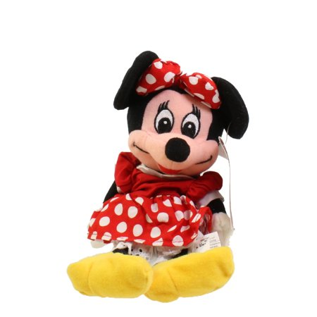 Disney Bean Bag Plush - MINNIE WITH RED BOW (Mickey Mouse - Yarn Mouth) (9 inch)](Minnie Mouse With Light Up Bow)