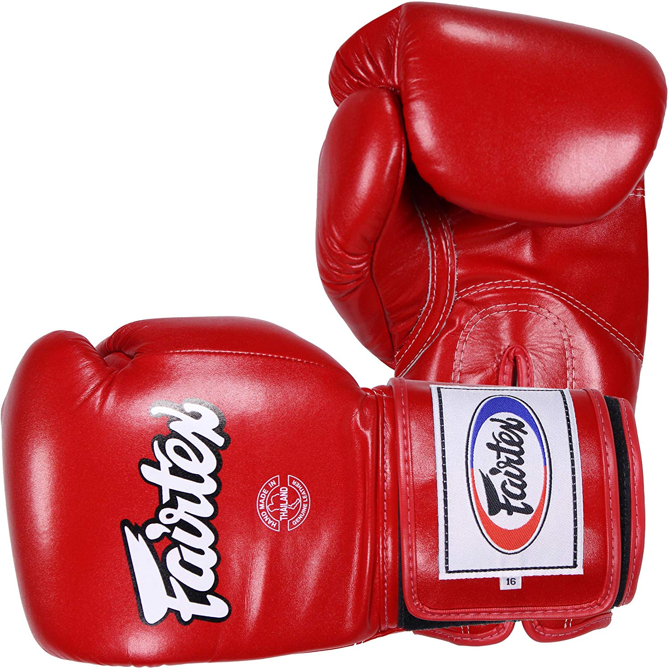 Fairtex Super Sparring Boxing Gloves Muay Thai Kickboxing Gloves 14oz 16 18 20oz