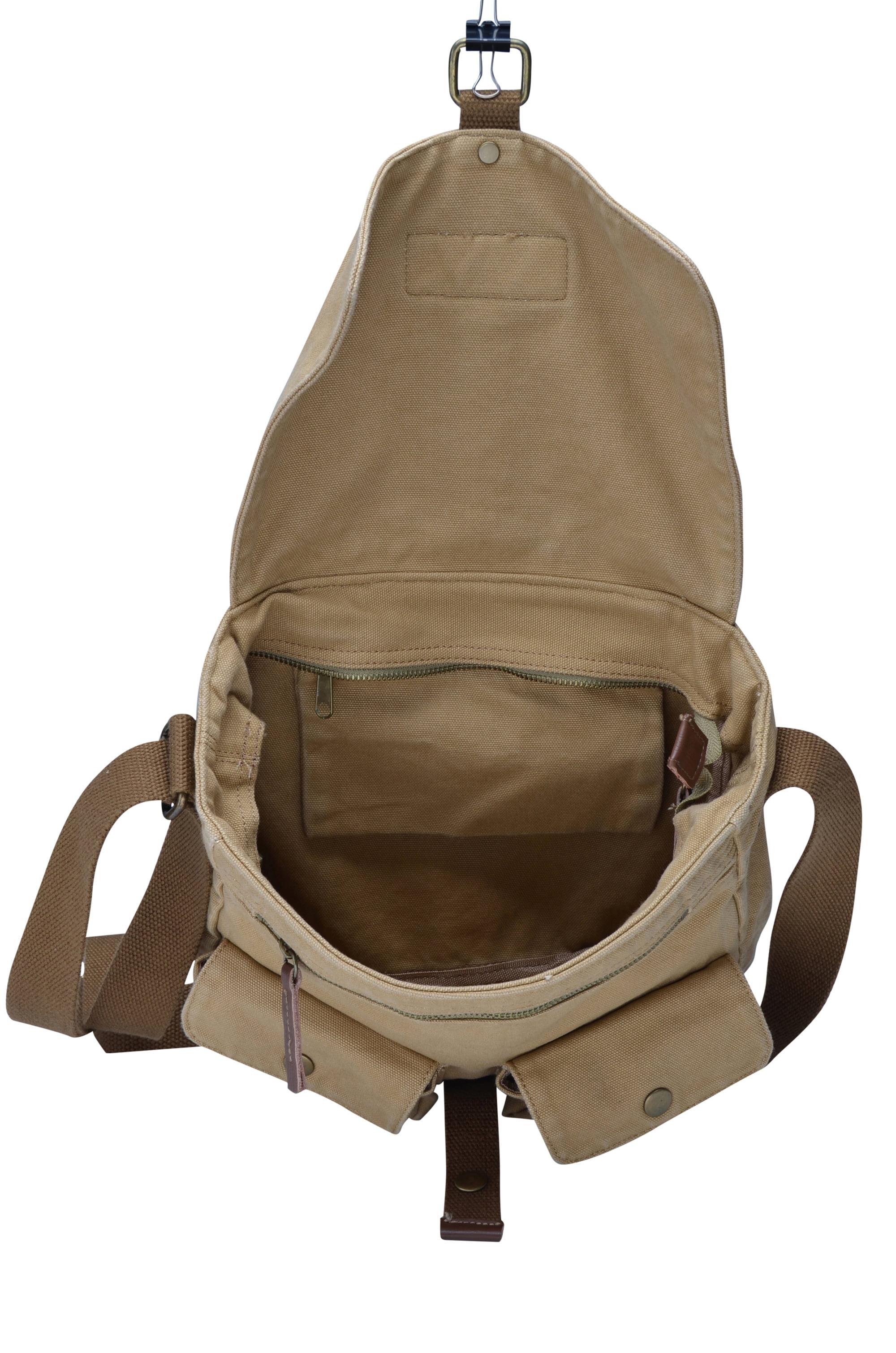 Gootium Vintage Canvas Messenger Bag Men   s Shoulder Bag Cross ...