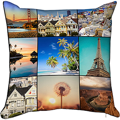 18x18 Photo Throw Pillow with Hidden Zipper