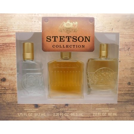 Fresh Splash (Collection IV by Stetson For Men Set: Original EDC splash 2.25oz + Fresh EDC splash 1.75oz + Rich Suede EDC splash)