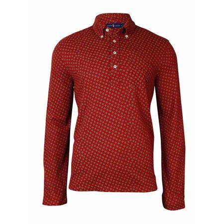 Ralph Lauren Men's Printed Pique Long Sleeves Shirt