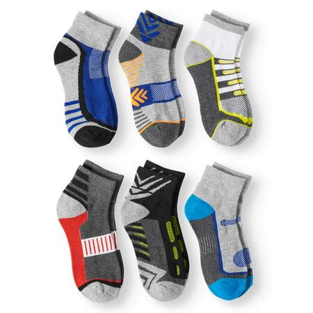 Jefferies Socks Boys Socks, 6 Pack Ankle Athletic Performance (Little Boys & Big Boys)
