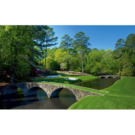 Laminated Poster Augusta National 12Th Hole The Masters Poster Art Golf Posters S Poster Print 24 x (Augusta National Golf Holes)