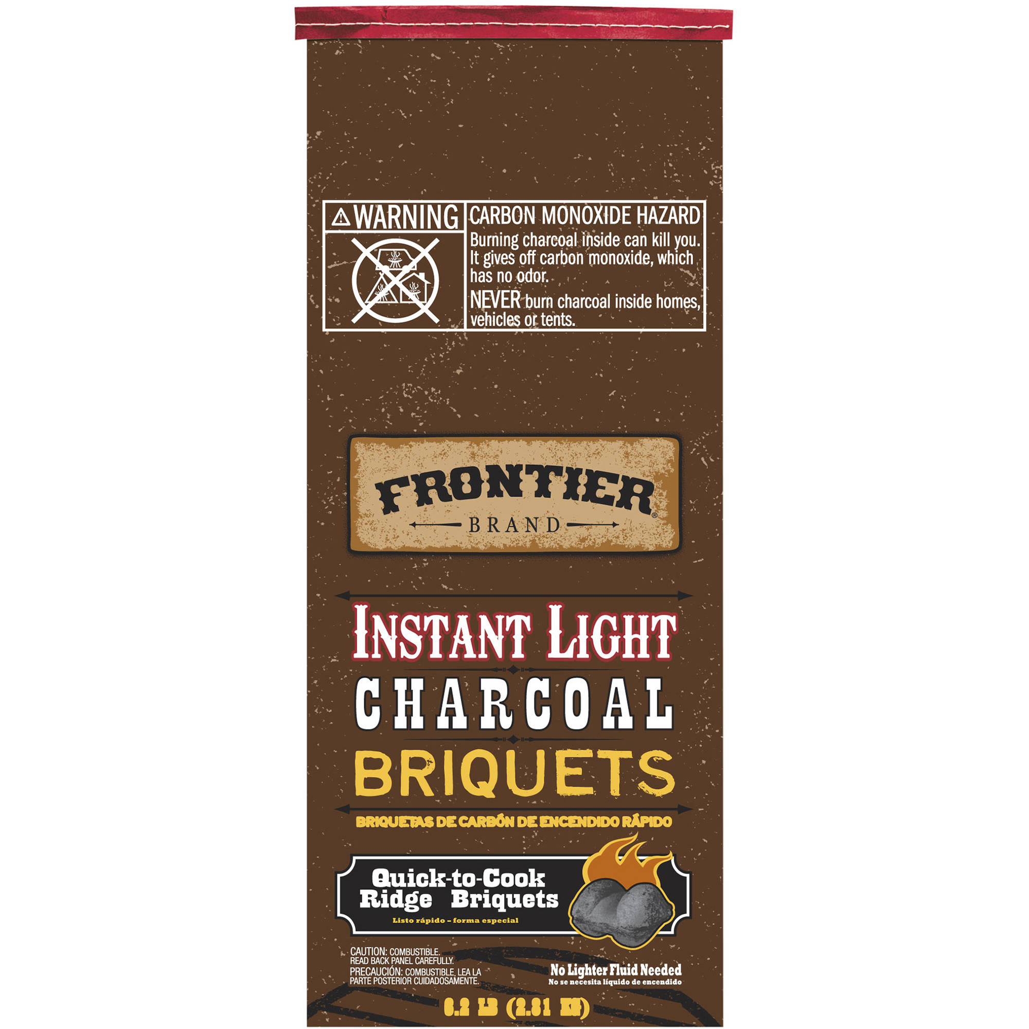 Frontier 198-330-128 6.2 lbs Instant Light Charcoal Briquets