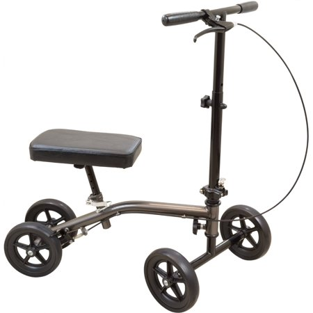 Roscoe Medical - E-Series Knee Scooter, Sterling Grey - CM