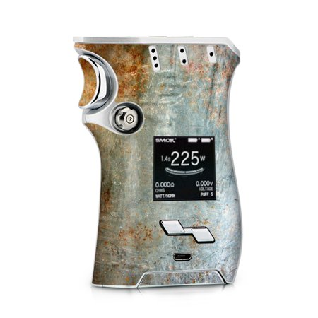 Skin Decal for Smok Mag + TFV12 Prince tank Vape / Rusted Steel Metal Plate (Best Metal Ar15 Mags)