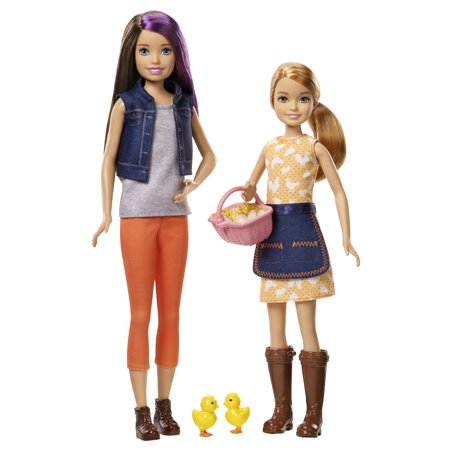 - Barbie Sweet Orchard Farm Skipper & Stacie Dolls with Accessories
