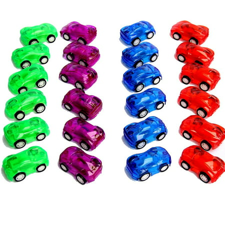 Dazzling Toys 2 in. Pull Back & Let Go Racer Cars - Pack of 12 Cars - Assorted Car - Cavs Colors