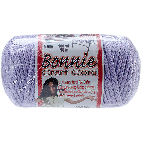 Bonnie Macrame Craft Cord, 6mm x 100 yd, Lavender