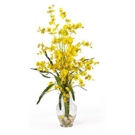 Dancing lady liquid illusion silk flower arrangement yellow dancing lady liquid illusion silk flower arrangement yellow mightylinksfo