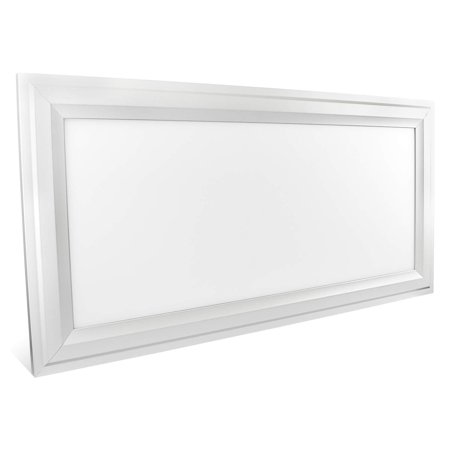 Lit Glass Panel - Luxrite 1x2 FT LED Panel Light Fixture, Ultra Thin Edge Lit 25W, 3000K Soft White, 2250 Lumens, Dimmable, Flushmount Surface Mount LED 12x24 Inch Drop Ceiling Light Panel, UL Listed