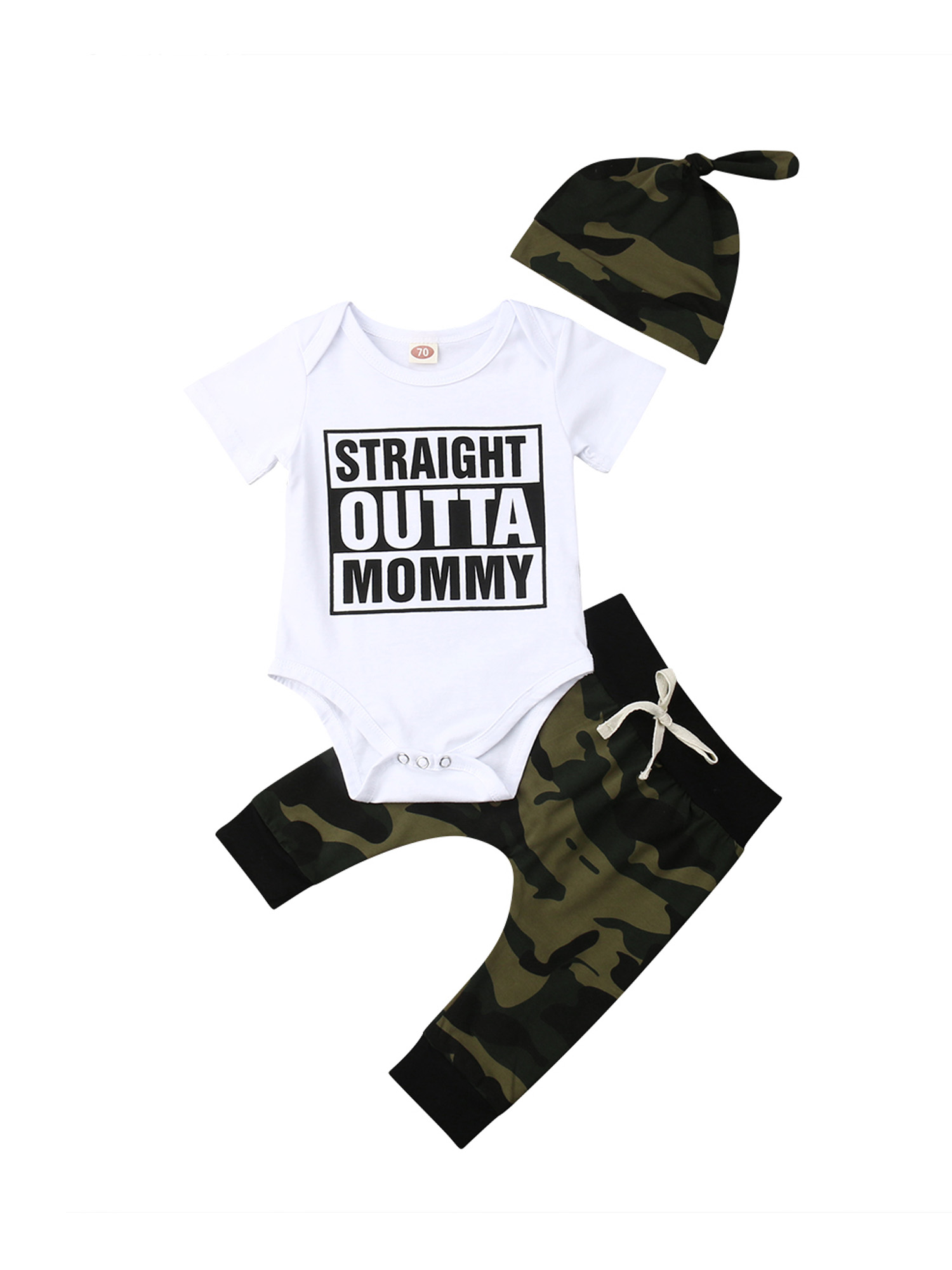 Personalised Baby Grow camo 6-12 Months