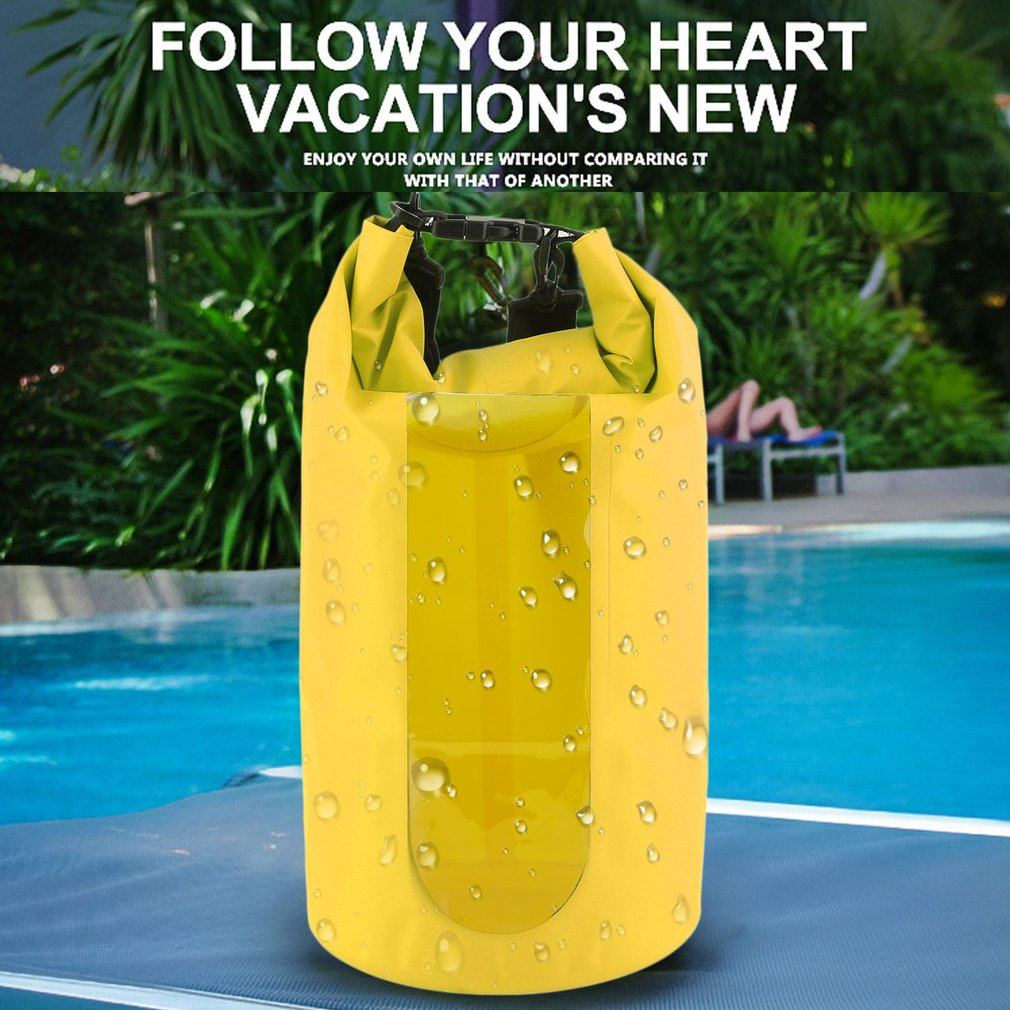 Yellow 20L Waterproof Dry Bag For Camping,Waterproof Dry Bag Roll Top Survival Sack Kit Dry Gear Bag Camping Equipment by yellowradio