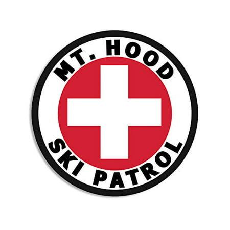 Round MT HOOD SKI PATROL Sticker (or oregon mount snow)