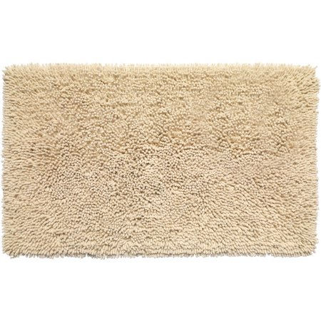 Kensington Shaggy Chenille Cotton Noodle Bath Bathroom Rug