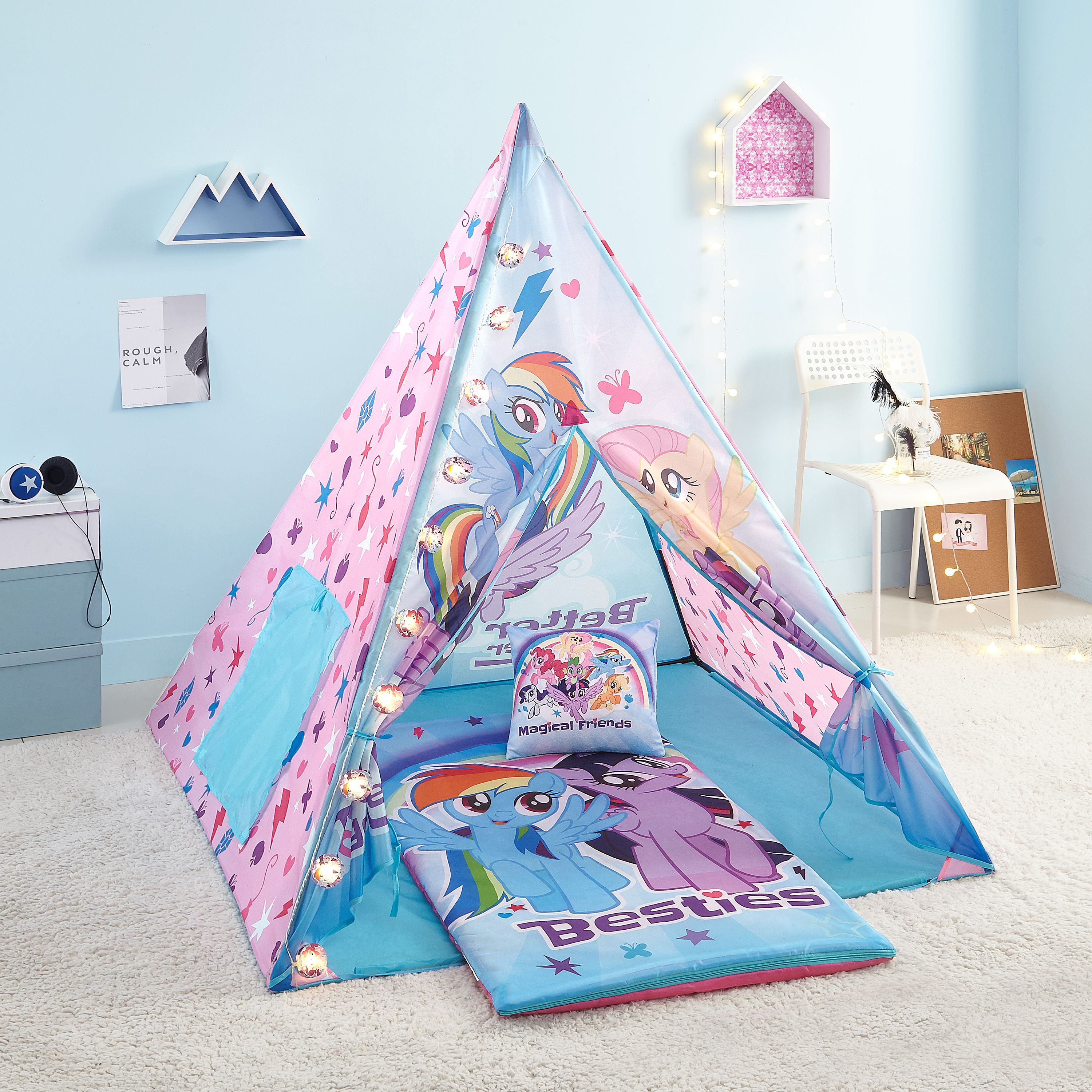 My Little Pony Teepee Tent Set Includes My Little Pony Light, My Little Pony Slumber Bag, and My Little Pony Pillow