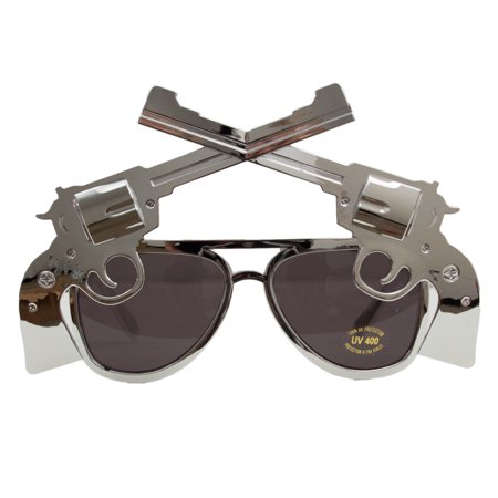 Veil Entertainment Six Shooter Cowboy Novelty Sunglasses, One-Size ()