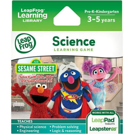 LeapFrog Explorer Learning Game Sesame Street Solve it with Elmo, Abby & Super Grover 2.0