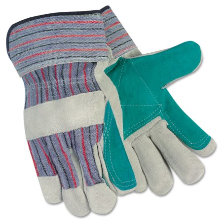 1 Pair Leather - Memphis CRW12010L Split Leather Palm Gloves 1 Pair