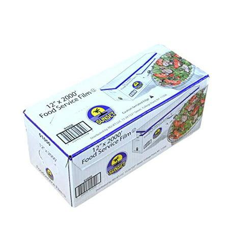 Plastic Food Film Seal Wrap in Cutter Dispenser, Stretch Tight, Food  Service Grade, 12