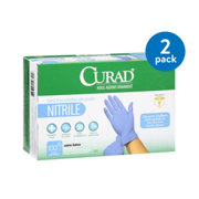 Curad Nitrile Powder-Free Exam Gloves, 100 ct