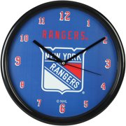 New York Rangers Black Rim Basic Clock - No Size