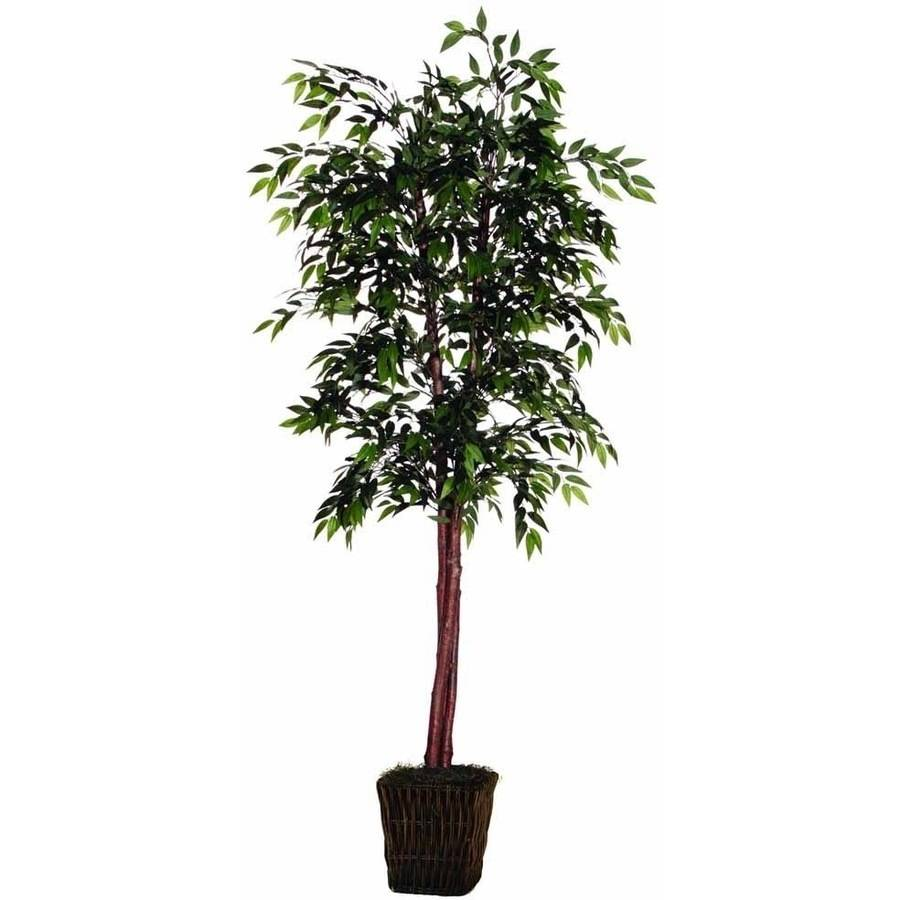 Vickerman 6' Artificial Green Smilax Deluxe in Square Rattan Basket
