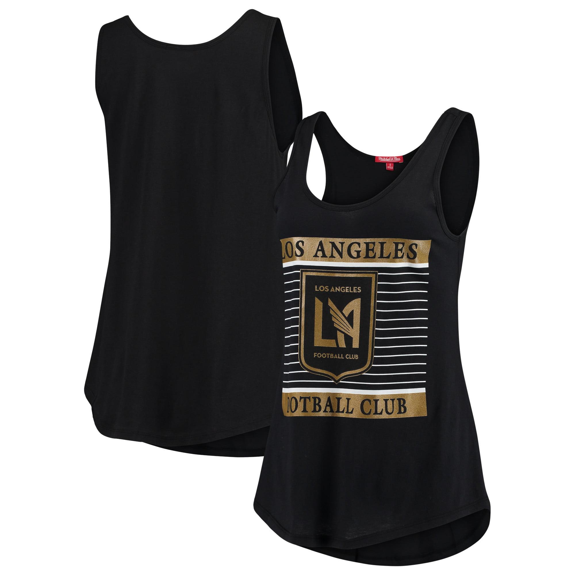 LAFC Mitchell & Ness Women's Tonal Stripe Tank Top - Black