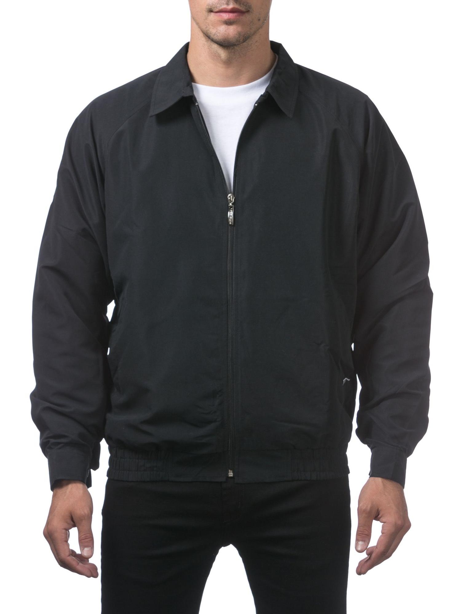 Pro Club Men's Spring/Fall Jacket, Small, Black