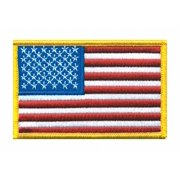 """Heros Pride Rayon/Polyester Embroidered Patch 3-1/2"""" x 2-1/4"""" 0021"""