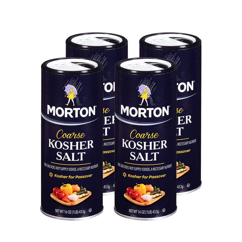 Morton Coarse Kosher Salt, 16 oz (4 Pack)