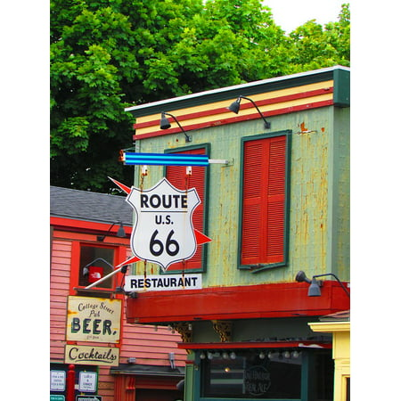 LAMINATED POSTER Restaurant Travel Maine Sign Route 66 Business Poster Print 24 x 36