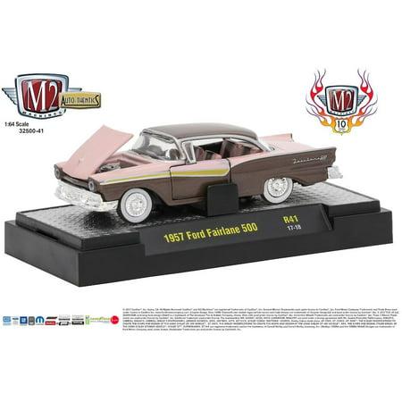 M2 Machines Auto Thentics 41 10th Anniversary 1:64 1957 Ford Fairlane 500