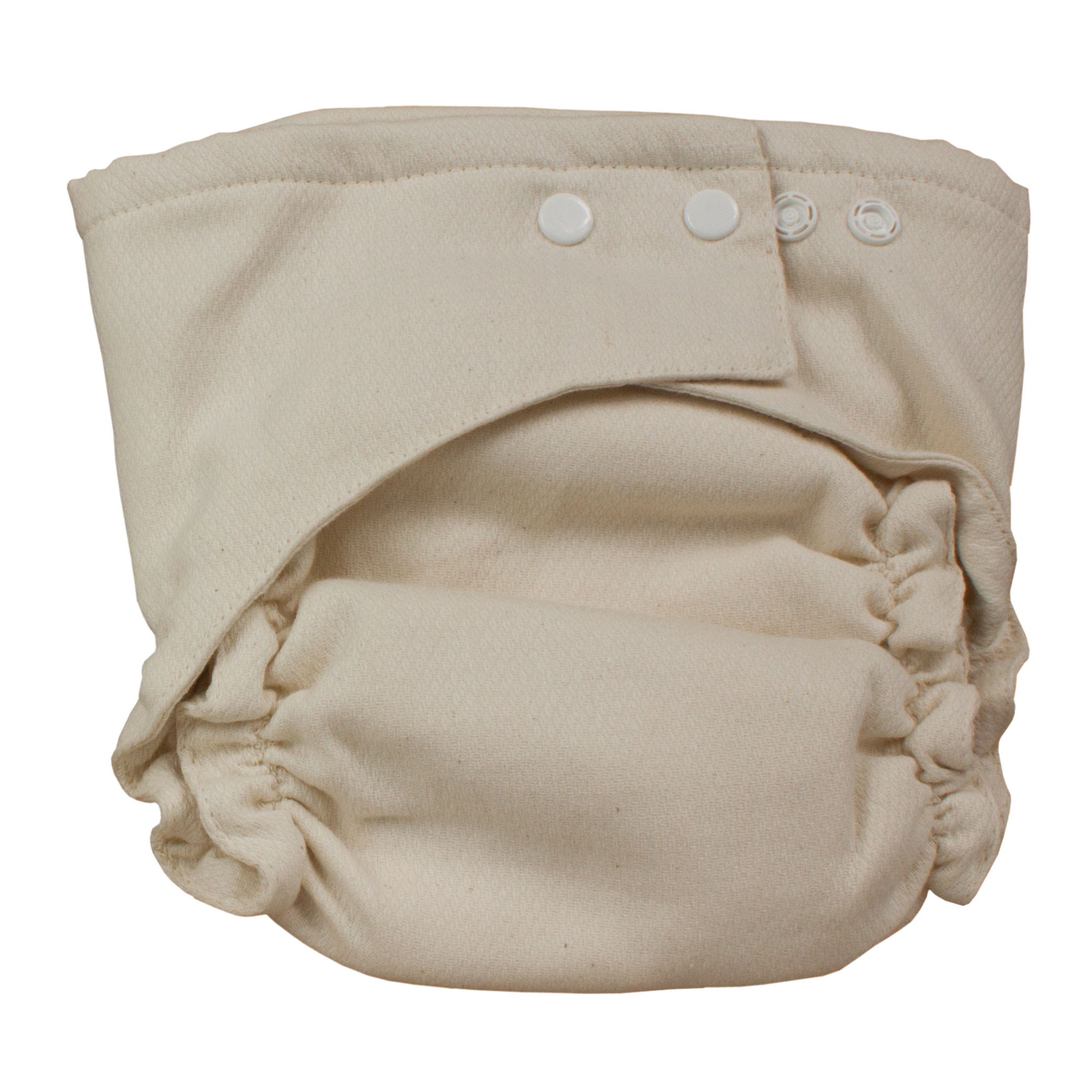 Osocozy Two Sized Unbleached Fitted Diaper, 6 pack - Size 2