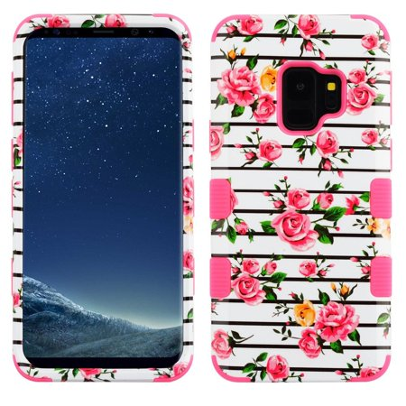 Samsung Galaxy S9 Case, by Insten Tuff Fresh Roses Dual Layer [Shock Absorbing] Hybrid Hard Plastic/Soft TPU Rubber Case Cover For Samsung Galaxy S9, Multi-Color - image 5 de 5