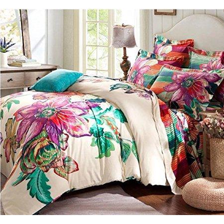 Lelva Bohemia Exotic Bedding Set Boho, Boho Bedding Queen Size