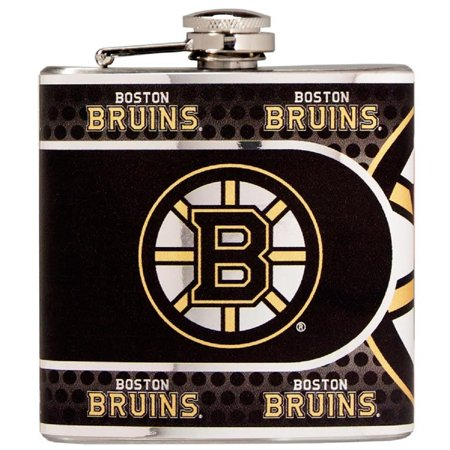 Metallic Boston Bag - Boston Bruins 6 oz. Metallic Wrap Hip Flask