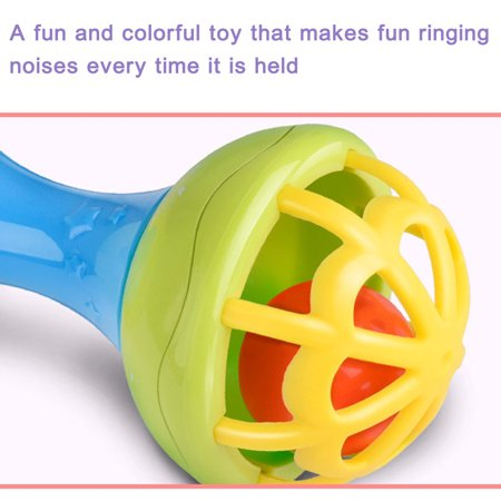 - Iuhan Baby Musical Hand Shaking Rattle Toy Todder Educational Teether Dumbbell Toy