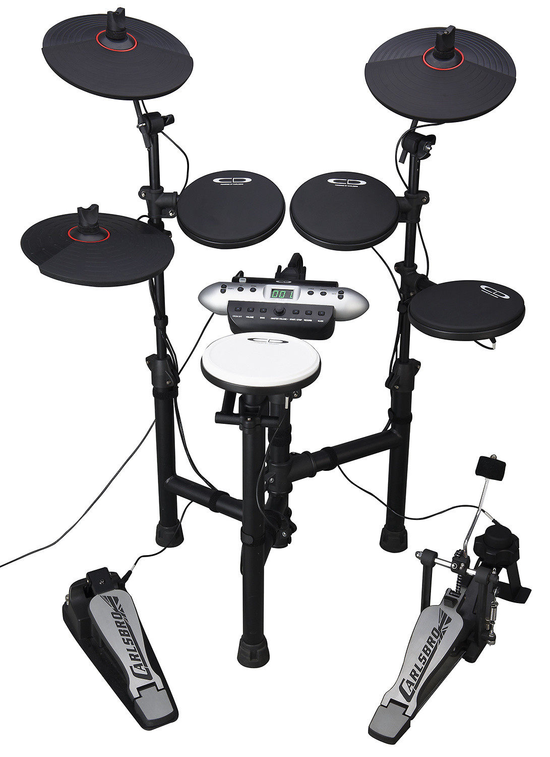 Carlsboro CSD130 -Compact Electronic Drum Kit & Accessory Pack by