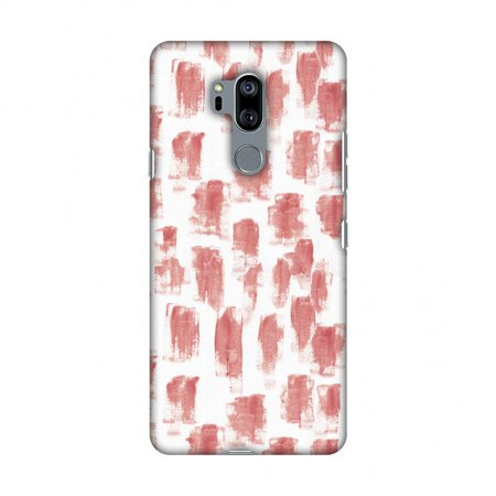 LG G7 Case, LG G7 ThinQ Case, Slim Fit Handcrafted Designer Printed Snap on Hard Shell Case Back Cover - Curious Canvas - Candy - Maroon Candy
