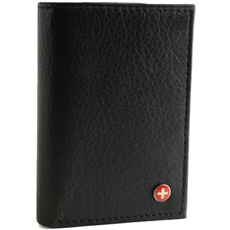 RFID Blocking Mens Wallet Extra Capacity Multi ID Card Slot - Trifold Wallets