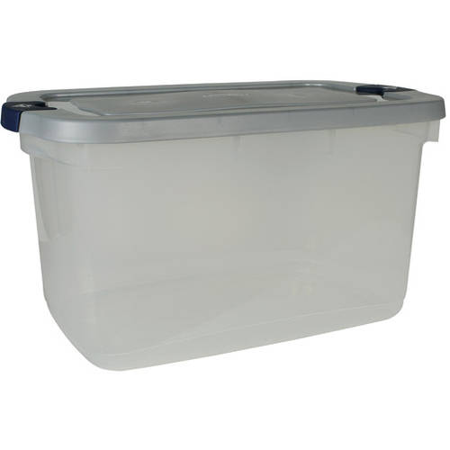 Rubbermaid 16.5-Gallon (66-Quart) Roughneck Clears Storage Box, Clear/Gray, Set of 4