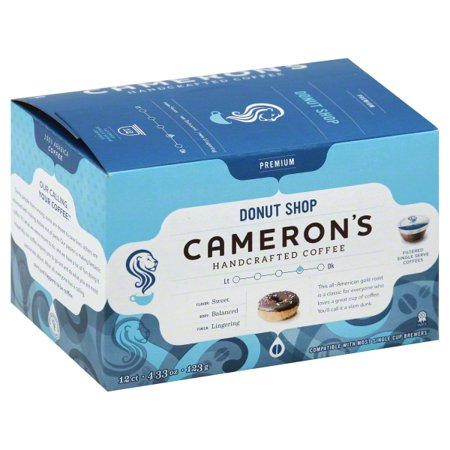 Cameron's Specialty Coffee Premium Donut Shop Single Serve Pods, 12 count