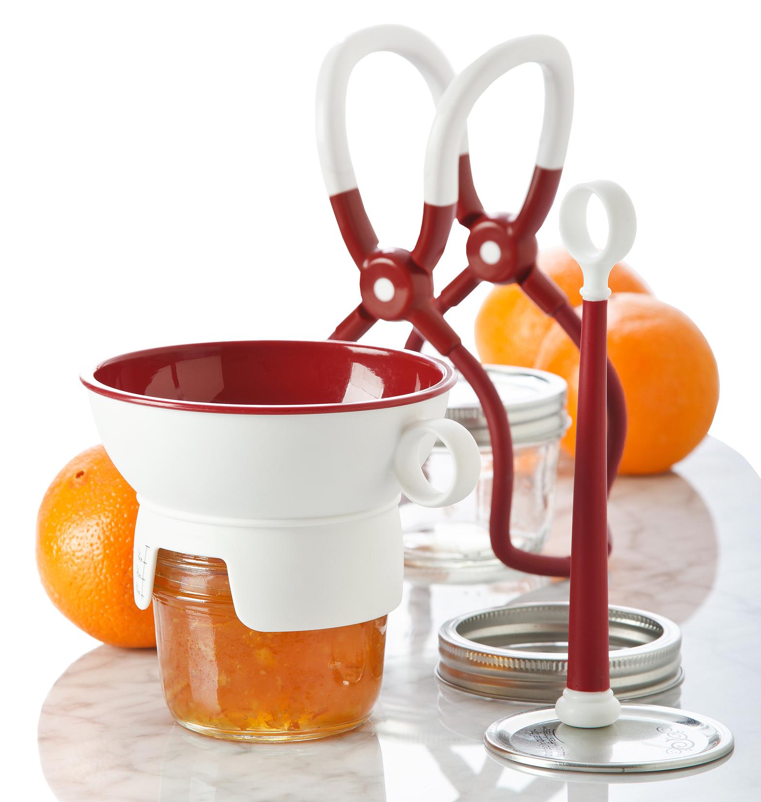Progressive 3 piece CANNING KIT One Handed Jar Lifter/Magnetic Lid Lifter/Funnel