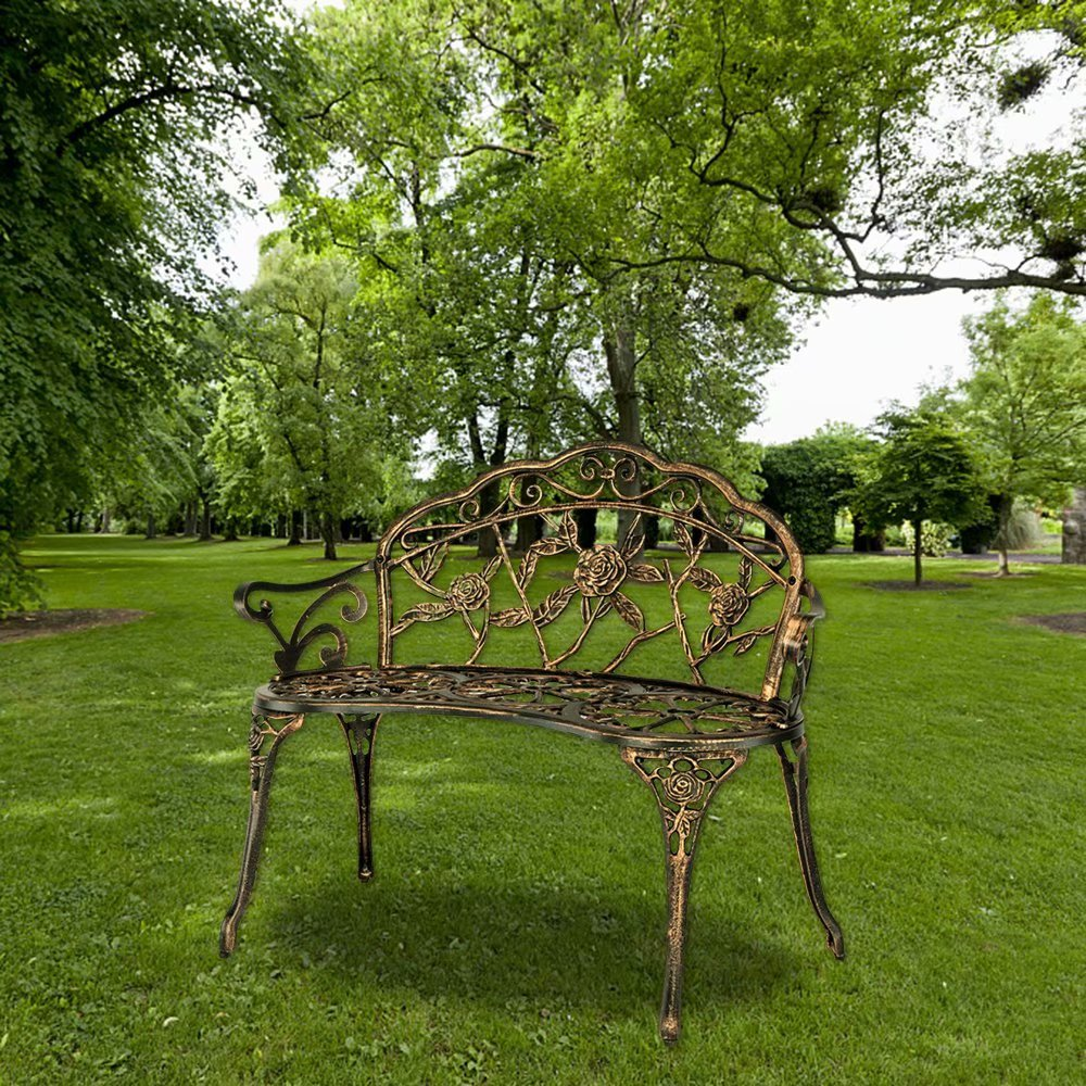 Akoyovwerve Outdoor Metal Benches Park Benches Cast ...