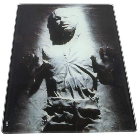 Star Wars Han Solo Frozen In Carbonite Glass Tempered Cutting Board ()